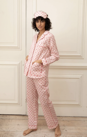 YOLKE Queen of Hearts Cotton Pyjama Set
