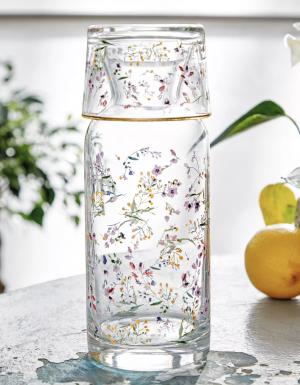 Floral Glass Carafe