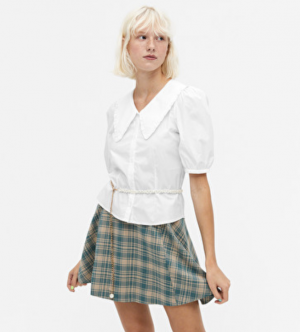 Monki cares Sailor collar blouse